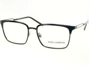 NEW D&G Dolce&Gabbana DG1295 01 BLACK EYEGLASSES GLASSES METAL FRAME 55-17-145mm