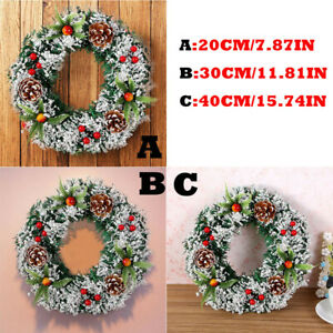 Wall Hanging Christmas Wreath Decoration For Xmas Party Door  Garland Ornament 2
