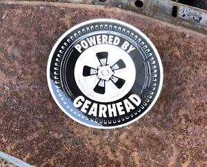 Gearhead Brand Powered By Sticker Decal Hot Rods Garage Punk Rock