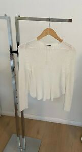 American Apparel White Sweater NEW w/o TAGS   GREAT PRICE!