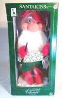 """Santakins Vintage 22"""" Rare Santa Stubby Animated Figurine w Box Works SEE VIDEO!"""