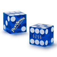 Authentic Cancelled 19mm Casino Dice Used at Palace Station Casino Pair of 2
