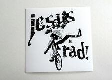 JESUS IS RAD sticker BMX old school vintage GT Dyno Schwinn CULT Mongoose HARO