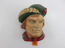 Bossons Head ROB ROY Chalkware Wall Hanging Vintage 1995 Made In England