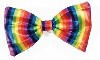 Rainbow Gay & Lesbian Pride Bowtie Bow Tie Clown Elastic Band Costume Accessory