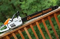 PILTZ Stihl MS201C HOT SAW 28 inch Cannon bar and Chain Perfect CHAINSAW