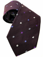 Paul Smith Cravate 8cm Damson brodé Tie&dye Floral 100% Soie Made in Italy