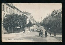 Switzerland BASEL BASLE Dornacherstrasse Wollmilch delivery cart Used 1909 PPC