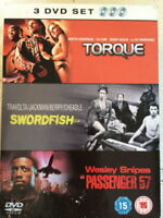 Torque - Swordfish - Passenger 57 Ice Cube,John Travolta New Sealed Region 2 DVD