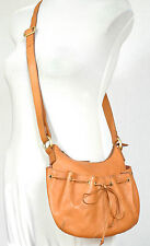 OASIS Beautifully SOFT,TAN LEATHER SADDLE BAG STYLE SHOULDER BAG Small Size VGC