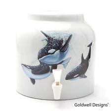 Goldwell Designs® Killer Whales Porcelain Water Dispensing Cooler (DD396)
