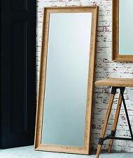 """Fraser Leaner FULL LENGTH floor MIRROR wall hung OAK effect 60""""x25"""" 152 x 63cm"""