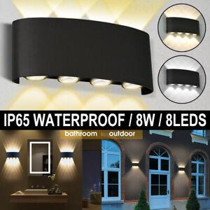 8W LED Wall Light Up Down Outdoor/Indoor Room Lamp Aluminum Sconce Garden Lights