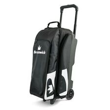 "Brunswick Blitz 3 Ball Bowling Roller Bag with 5"" wheels Color Black"