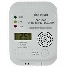 Carbon Monoxide Detector - Wall Mount kit Supplied - Room Temperature - Alarm