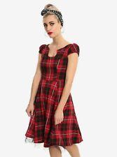Hot Topic Red Plaid Dress