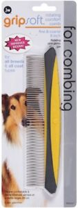 JW Pet GripSoft Rotating Comfort Comb Fine & Coarse 8in   Free Shipping