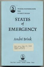 André BRINK / States of Emergency Signed Uncorrected Proof 1st 1989