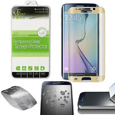 Full Curved Tempered Glass Screen Protector for Samsung Galaxy S6 Edge - Gold