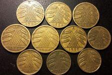Allemagne - République de Weimar - lot de x10 monnaies 1923 à 1936 !