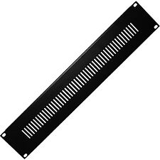 """19"""" 2U Vented Blanking Rack Patch Panel–Module Cover Plate Mount–Equipment Case"""