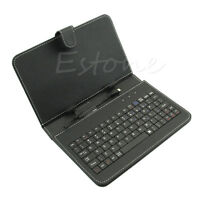 """Universal USB Keyboard PU Leather Folio Case Cover For Android Tablet 7"""" 8"""" 10.1"""