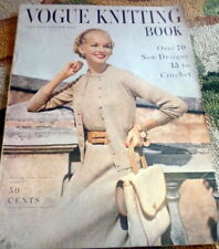RARE VTG 1950s VOGUE KNITTING BOOK 1954 *70 Designs to Knit* Hats Dresses Stoles