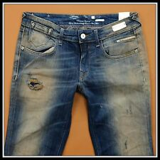 REPLAY MAESTRO STRAIGHT WOMAN HARD DESTROY RARE JEANS size W30 L34