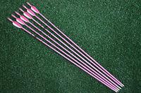 6Pcs 28'' Fiberglass Arrows Practice Arrows Women Hunting Archery Recurve Bow