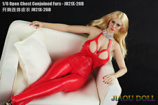 """1:6 JO21X-26D Red Leather Tights Clothes Pants For 12"""" Female PH TBL Body"""