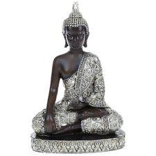 Plata tailandés Sentado Buda Adorno Oriental Decoración Nuevo en Caja de Regalo-medio