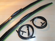 "Alfa Gtv + Spider 95-05 Latest Design Wiper Blades With Washer Jets 21""x19"""