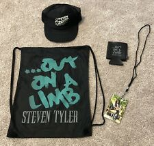 """NEW Steven Tyler """"Out on a Limb"""" Tour VIP Package Hat Coozie Drawstring Bag"""