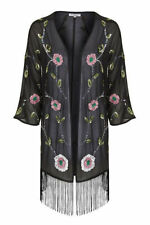 Kimono Floral Coats & Jackets without Fastening for Women