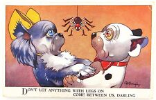 """BONZO VALENTINE'S POSTCARD NO 4311 """"DON'T LET ANYTHING WITH LEGS ON"""" G E STUDDY"""