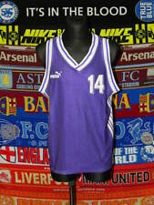 5/5 Puma adults XL/M MINT #14 basketball kit shirt + shorts retro vintage