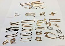Antique Gold & Silver Tone Eyeglass Trim Parts  / From Optometrist Estate 57 pcs