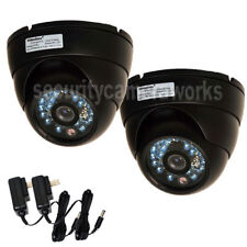 2x Dome CCD Security Camera Outdoor Indoor IR Day Night Vision Wide Angle BDG