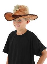 KIDS SHERIFF HAT WILD WESTERN COWBOY POLICE DEPUTY CHILD BOY COSTUME HAT