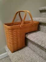 Longaberger 1995 Vintage Stair Step Odds And Ends Basket Signed Modern Farmhouse