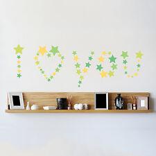 Decoración Mural calcomanía Casa Familia Arte estrellas pegatinas de pared de papel 104cm X 38cm