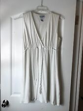 Swimsuit Coverup M Dress White Paradise Bay Drawstring Beach Nautical Cover Up