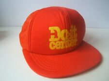Do It Center Hat Vintage Orange Snapback Trucker Cap