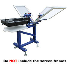 Silk Screen Printing 3 Color New Printer With Metal Stand & Rotatable Dryer