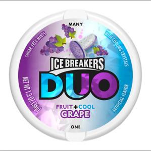 ICE BREAKERS DUO Fruit + Cool Mints,Grape  flavor, Sugar Free,1.3 oz (8 ct)