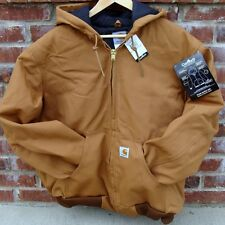 CARHARTT J140 ACTIVE JACKET FLANNEL LINED BROWN 2XL