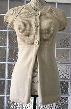 MOSSIMO Women's Cream Fly Away Cardigan Sweater Soft Wool Angora Cotton Blend S
