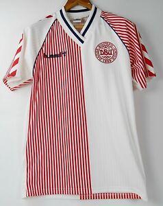 1986 DENMARK AWAY World Cup RETRO FOOTBALL SHIRT ** RARE** ( S, M, L, XL )