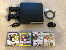Sony PlayStation 3 Slimline 160 GB Charcoal Black + 4 Spiele + 2 Controller