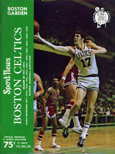 1971-72 NBA CLEVELAND CAVALIERS vs. BOSTON CELTICS GAME PROGRAM (UNSCORED) NM